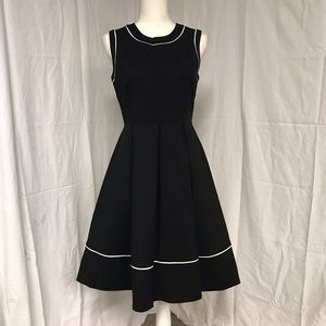 NWT Kate Spade Black White Hope Fit Flare Dress 6